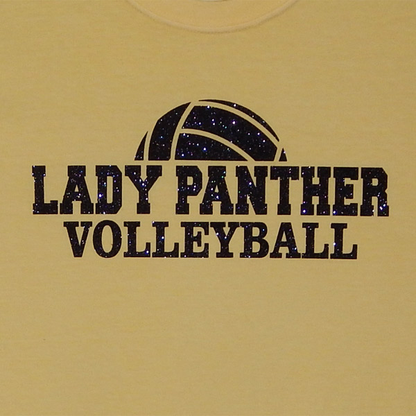 Half Volleyball With Lady Panther Volleyball Shirt